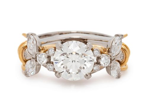 Tiffany & Co., Schlumberger Studios, Diamond 'Two Bees' Ring