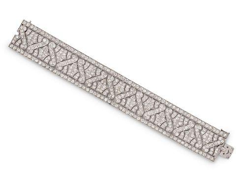 Art Deco, Platinum and Diamond Bracelet