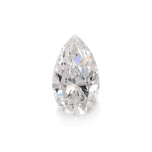2.25 Carat and 2.07 Carat Pear Shape Brilliant Cut Diamonds