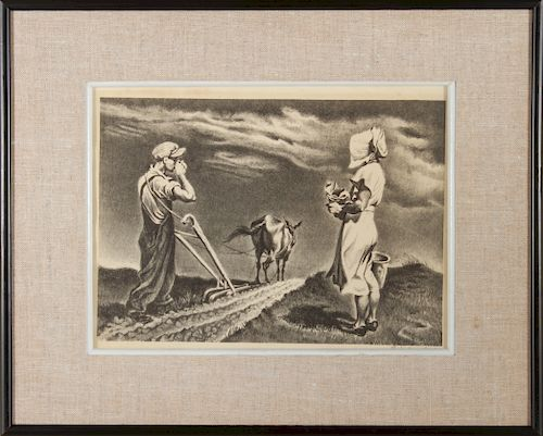 """George Schreiber """"Noon"""" AAA Lithograph"""