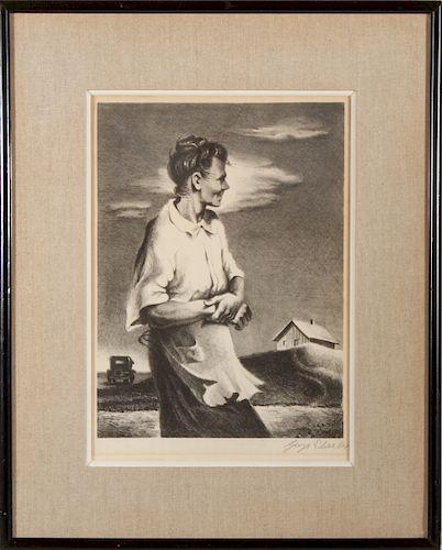 "George Schreiber ""From Arkansas"" AAA Lithograph"