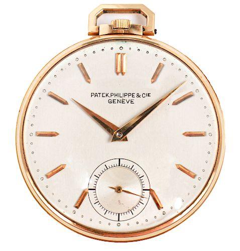 Art Deco Patek Philippe 18K Gold Pocket Watch