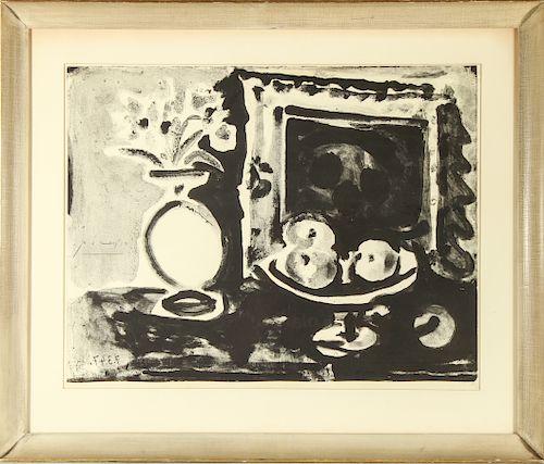 Pablo Picasso Still Life B&W Lithograph Mourlot 73