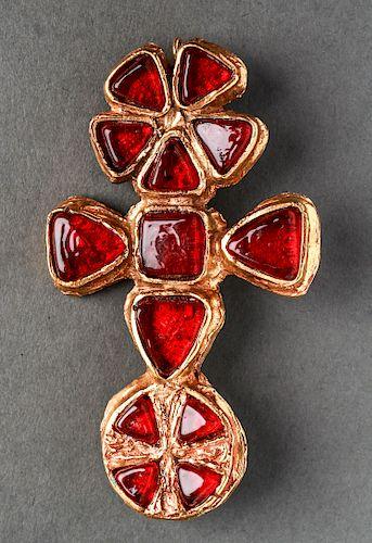Chanel Rare Oversize Gripoix Pendant, 1940's