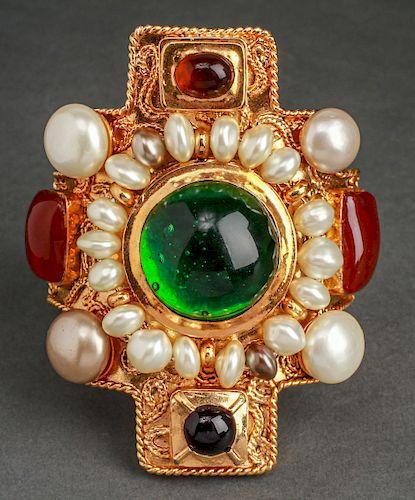 Chanel Runway Gripoix Byzantine Maltese Bracelet