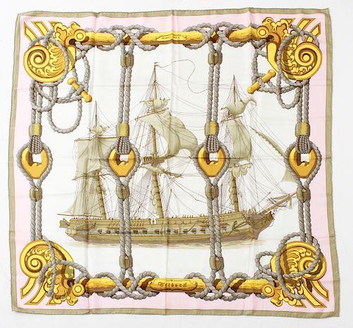 "Hermes ""Tribord"" Silk Scarf"