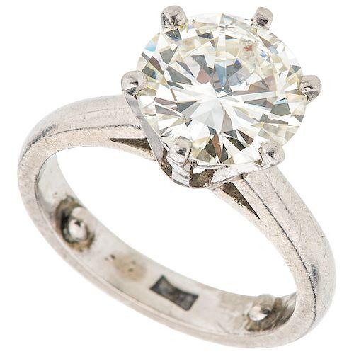 SOLITAIRE  GIA CERTIFICATE DIAMOND RING. PLATINUM