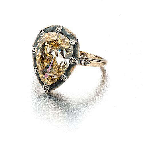 DIAMONDS RING. PALLADIUM SILVER