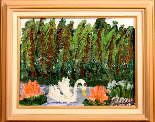 Outsider Art, Alyne Harris, Swan Out on the Water