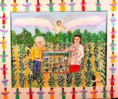 Outsider Art, Myrtice West, In the Cotton Field (Estel Smith & Myrtice)