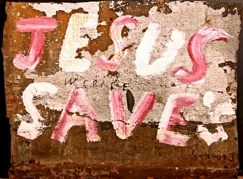 Outsider Art, WC Rice, Jesus Saves