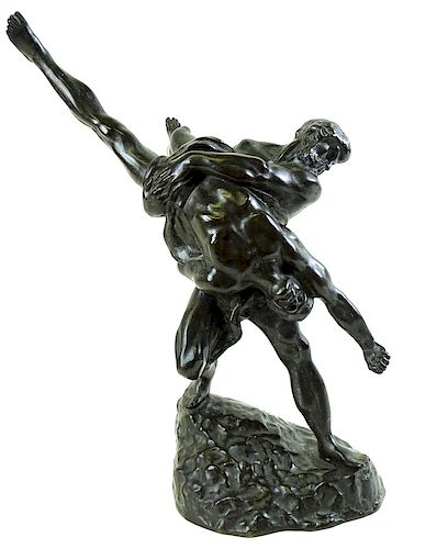 "Jef Lambeaux (1852-1908) ""The Wrestlers"" Sculpture"