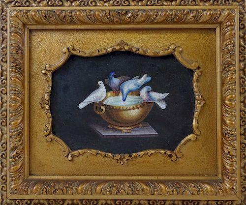 19th century pietra dura mosaic plaque