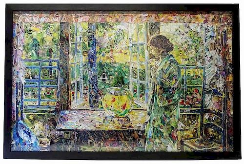 Vik Muniz The Goldfish Window, After Childe Hassam