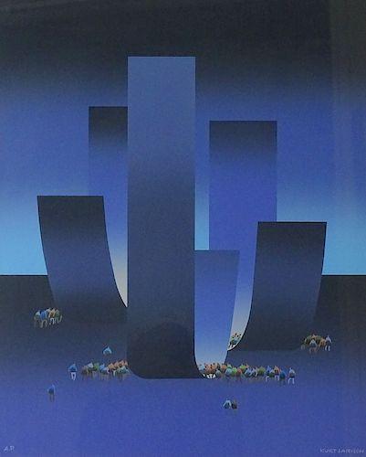 Kurt Larisch Lithograph Austrian/Mexico(1913-2009)