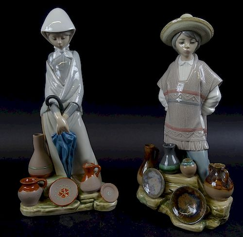 Collection of Two Lladro Porcelain Figures