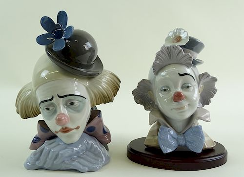 (2) Two lladro Clown Figures
