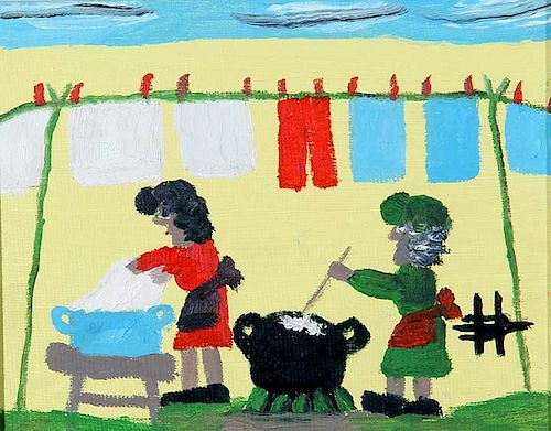 Outsider Art, Clementine Hunter, Wash Day