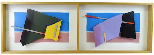 "LEONARD JANKLOW (American, 1919-2006) ""Diptych"""