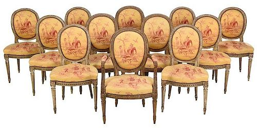 Fine Assembled Set Louis XVI Dining Chairs