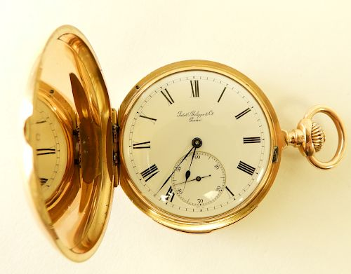Patek, Philippe & Co 18K Gold Pocket Watch, c 1883