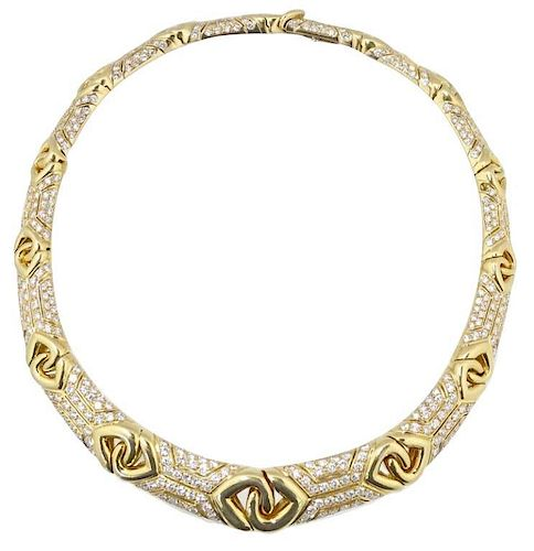 18K Bulgari 18ct Diamond Necklace Retail $98,000