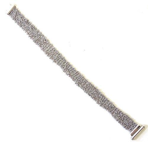 CALGARO 18K White Gold Mesh Bracelet