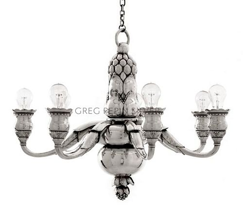 Important and Monumental Georg Jensen Chandelier 316