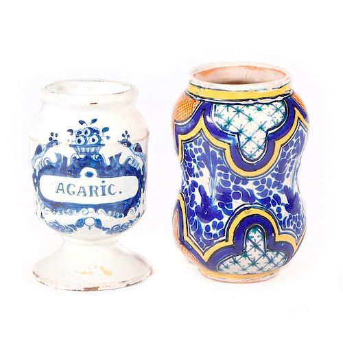 European delftware and Mexican talavera tibor,