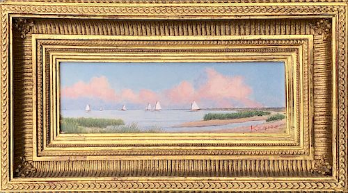 """Michael Keane Oil on Canvas Board """"Reduction of Nantucket Harbor Morning"""""""