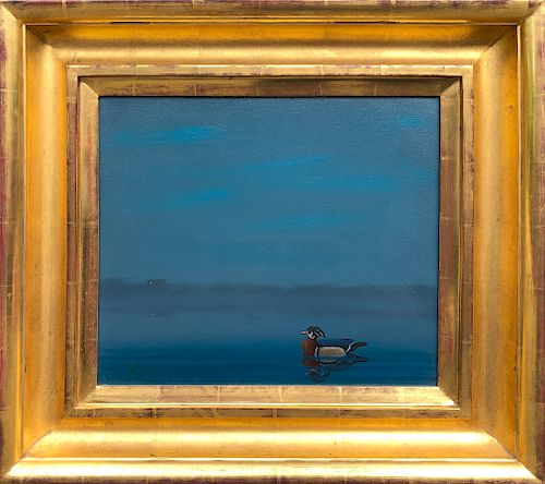 "Robert Stark Jr. Oil on Canvas ""Woodrow"""