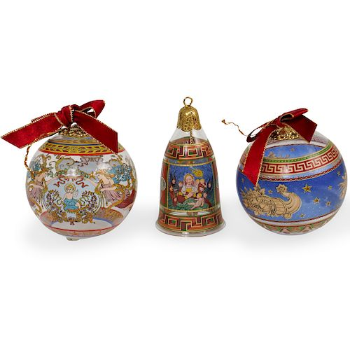 (3 Pc) Rosenthal x Versace Glass Ornaments