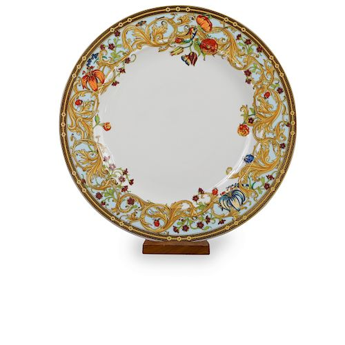 (2 Pc) Rosenthal Versace Le Jardin Dinner Plates