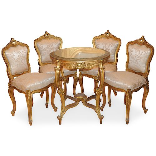 (5 Pc) Antique French Furniture Set