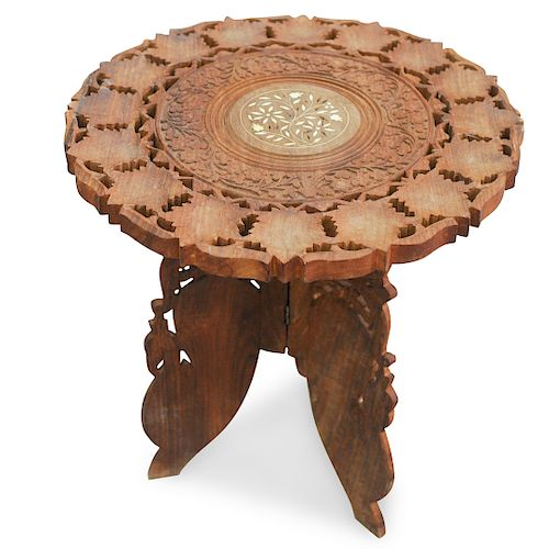 Syrian Inlaid Wooden Low Table