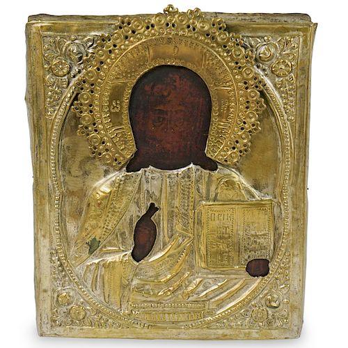Brass Russian Icon