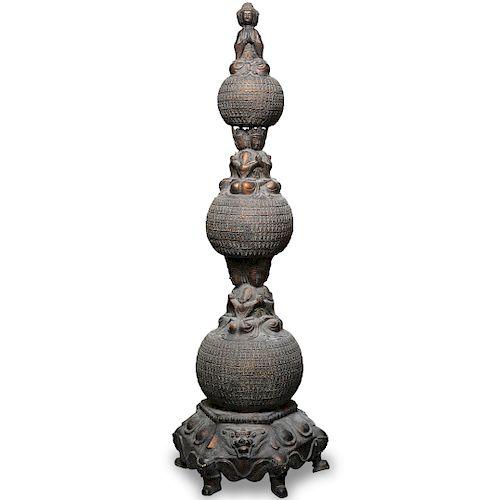 Chinese Buddha Bronze Totem
