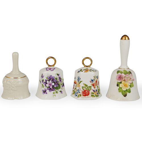 (4 Pc) English Porcelain Dinner Bells