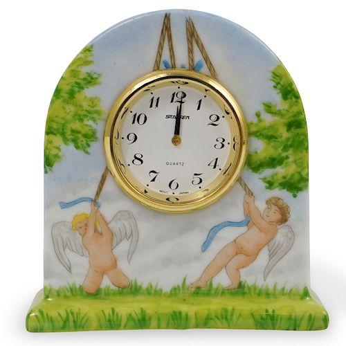 Limoges Porcelain Desk Clock