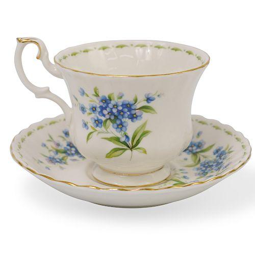 Royal Albert Porcelain Teacup and Saucer