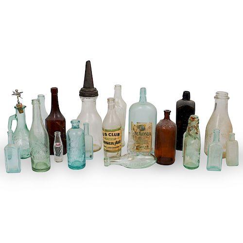 (21 Pc) Antique Glass Bottles