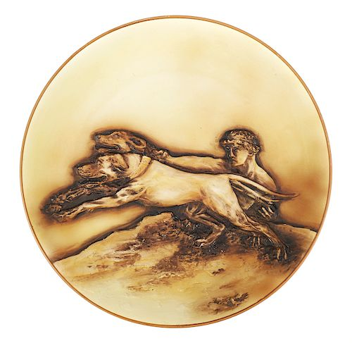 NIPPON Hand Painted APOLLO & Dogs Charger