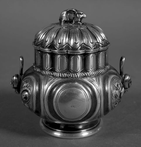 1850s TIFFANY & Co. Sterling Silver Container