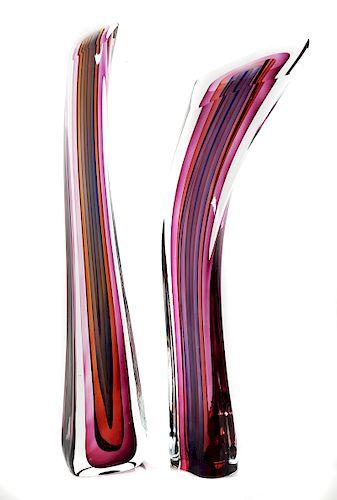 HARVEY K. LITTLETON, Sliced Art Glass Sculpture