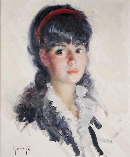 IGNACIO GIL, Portrait of a Young Girl, O/C