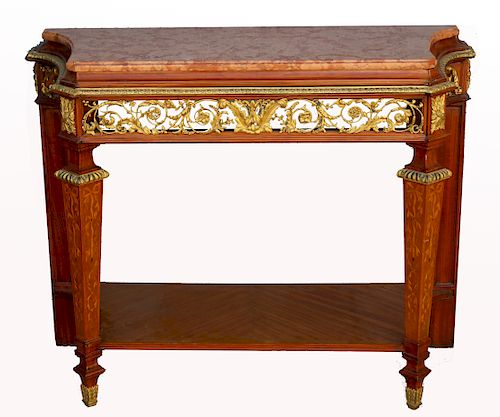 Important Forest, Paris French Marble Top Console