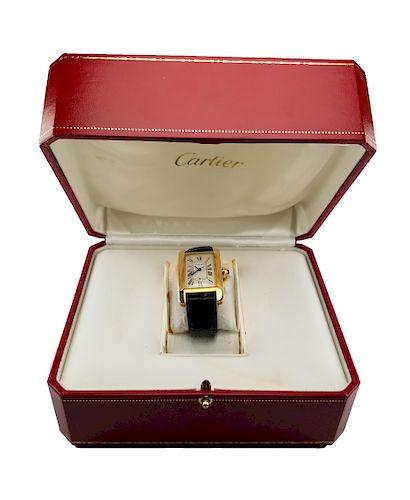 Cartier 18K Gold Tank Americaine
