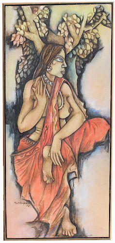 "S. Benjamin (India, 20th C.) ""Radha"""