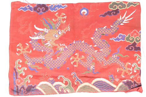 Antique Chinese Five-Claw Dragon Textile