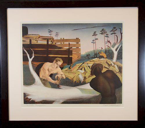 "Buell Whitehead (FL. 1919 - 1993) ""Wood Choppers"""